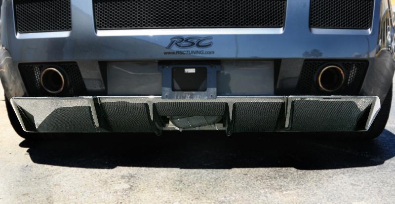RSC Tuning CS 600 Rear Lower Diffuser Lamborghini Gallardo 03-08 - PTRSC_LAM-005