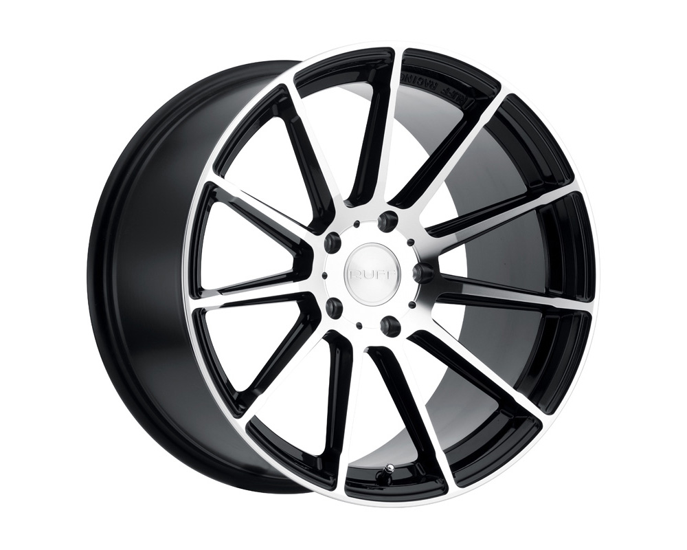 RUFF RS2 Wheel 18x10 5x114.30 40mm Gloss Black W/Machine Cut Face - 1810R2S405114F76