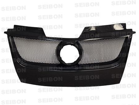Seibon Front Carbon Fiber TB-Style Grill with Emblem Volkswagen Golf GTI 06-08 - FG0607VWGTI-TB