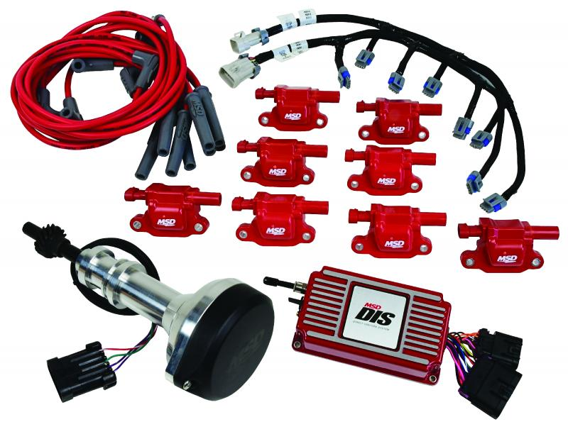 MSD DIS Kit, Small Block Ford, 351W, Red - 60153