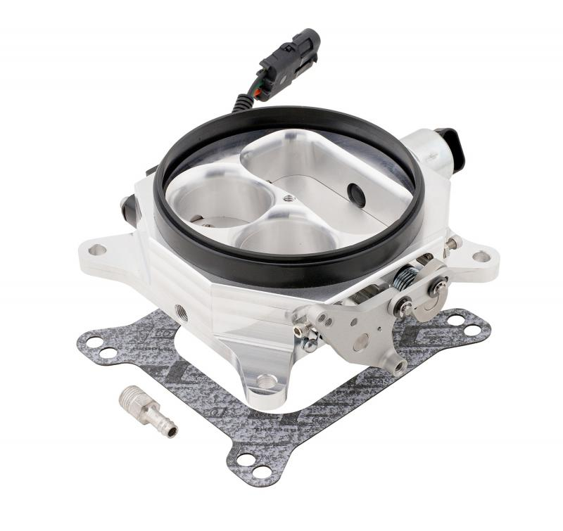 Accel Billet Throttle Body; 4150 Series Flange; 1350 cfm; w/Idle Air Control And Throt
