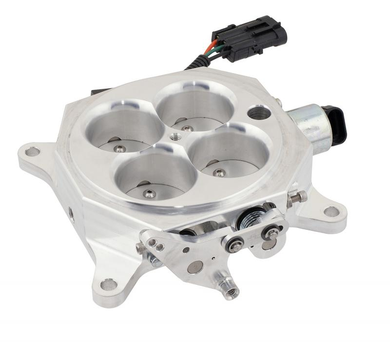Accel Billet Throttle Body; 4150 Series Flange; 1200 cfm; w/Idle Air Control And Throt