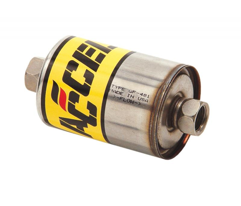 Accel Fuel Filter; High Pressure; Stainless Steel; 2 pc. Laser Welded Construction;