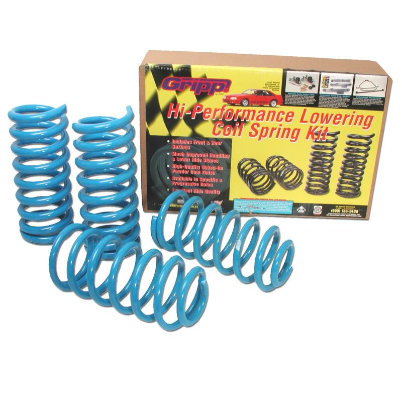 BBK Performance Parts 79-04 FORD MUSTANG V8 PROGRESSIVE RATE LOWERING COIL SPRINGS Ford Mustang Front and Rear 1979-2004