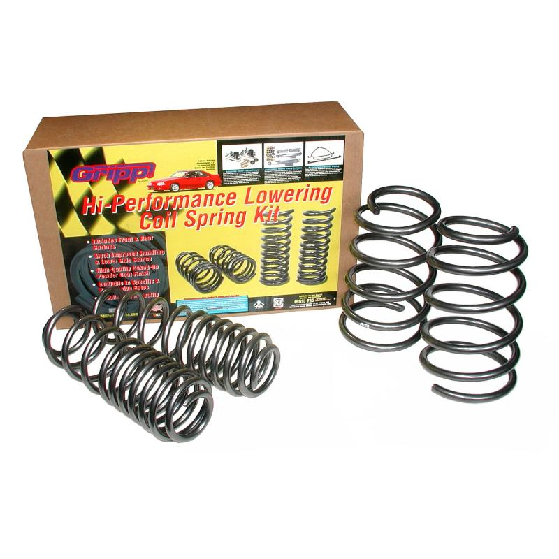 BBK Performance Parts 05-10 FORD MUSTANG GT PROGRESSIVE LOWERING COIL SPRING KIT Ford Mustang Front and Rear 2005-2010 4.6L V8