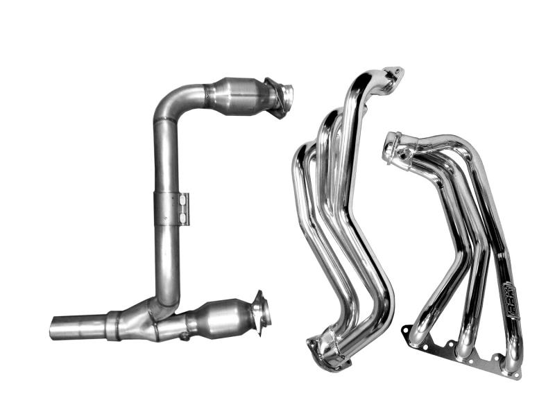 BBK Performance Parts 07-11 JEEP WRANGLER 3.8L FULL-LENGTH HEADERS W/Y PIPE W/CATS (CERAMIC) Jeep Wrangler 2007-2011