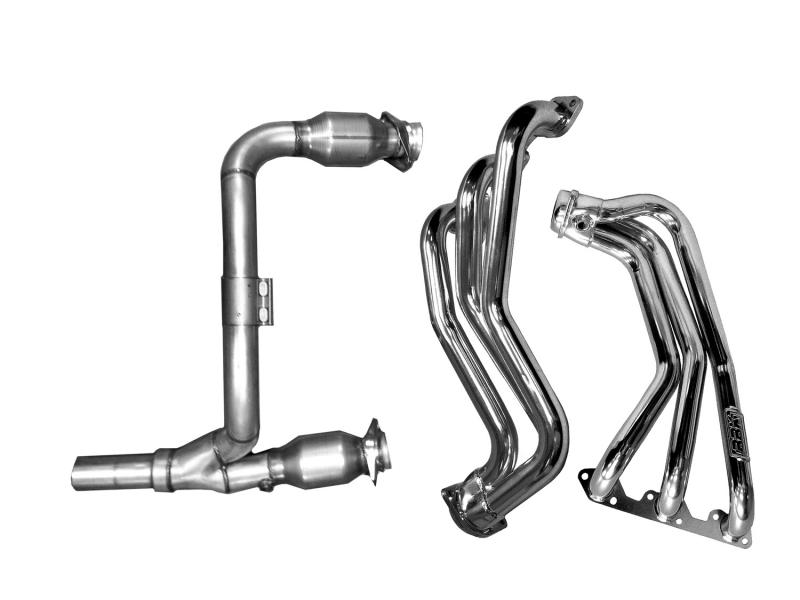 BBK Performance Parts 07-11 JEEP WRANGLER 3.8L FULL-LENGTH HEADERS W/Y PIPE W/CATS (CHROME) Jeep Wrangler 2007-2011