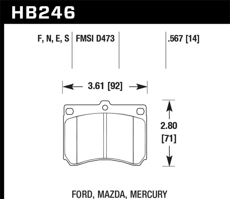 Hawk Performance Disc Brake Pad Front - HB246F.567