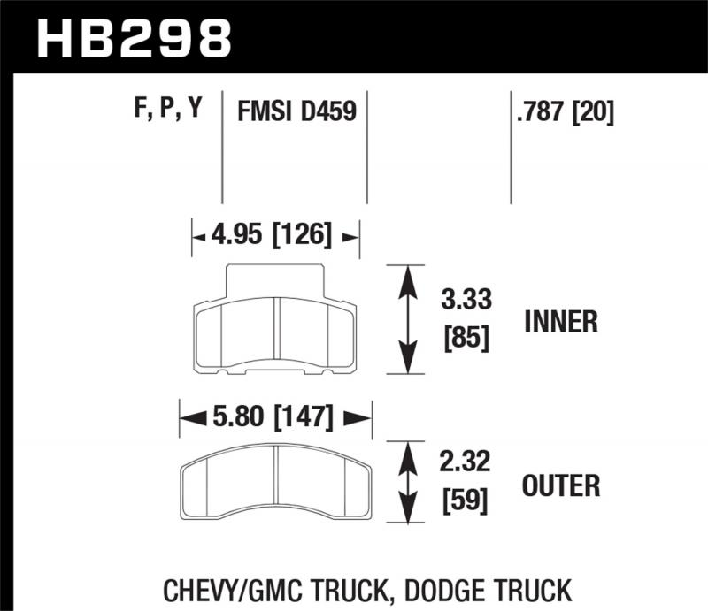 Hawk Performance Disc Brake Pad Front - HB298F.787