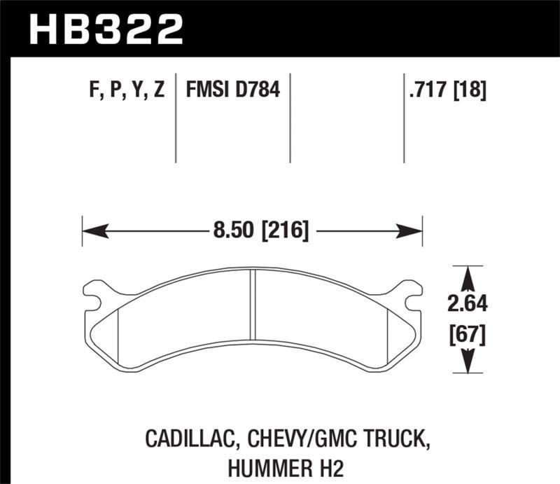 Hawk Performance Disc Brake Pad Front - HB322F.717