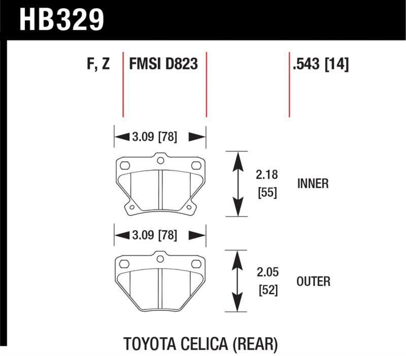 Hawk Performance Disc Brake Pad Rear - HB329F.543