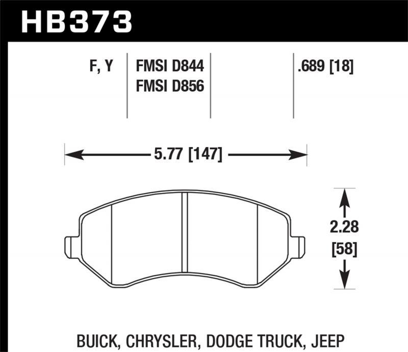 Hawk Performance Disc Brake Pad Front - HB373F.689