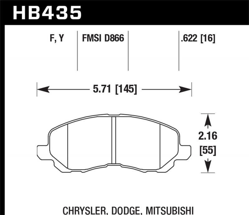 Hawk Performance Disc Brake Pad Front - HB435F.622