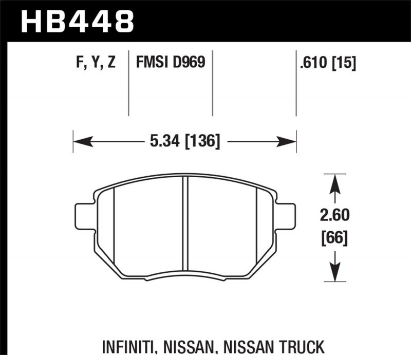 Hawk Performance Disc Brake Pad Front - HB448F.610