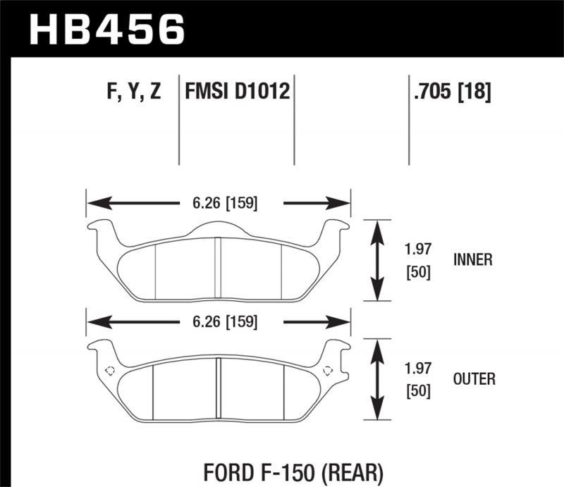 Hawk Performance Disc Brake Pad Rear - HB456F.705