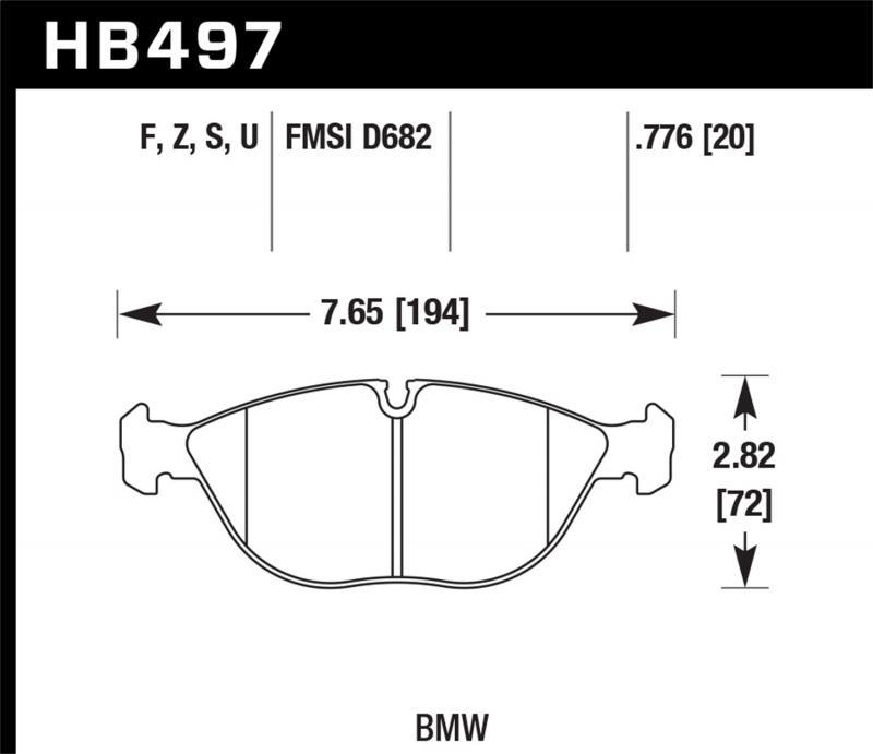 Hawk Performance Disc Brake Pad Front - HB497F.776