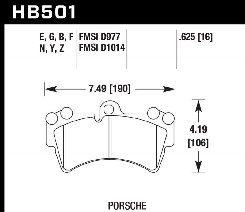 Hawk Performance Disc Brake Pad Front - HB501F.625