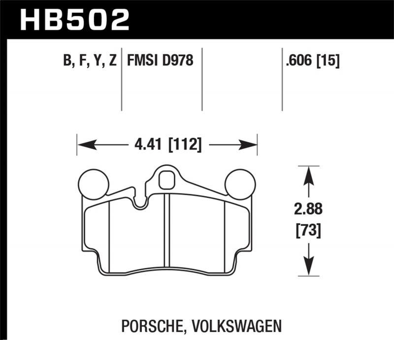 Hawk Performance Disc Brake Pad Rear - HB502F.606