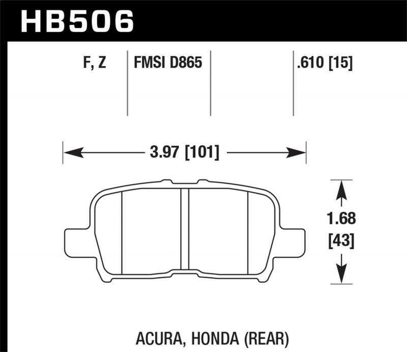 Hawk Performance Disc Brake Pad Rear - HB506F.610