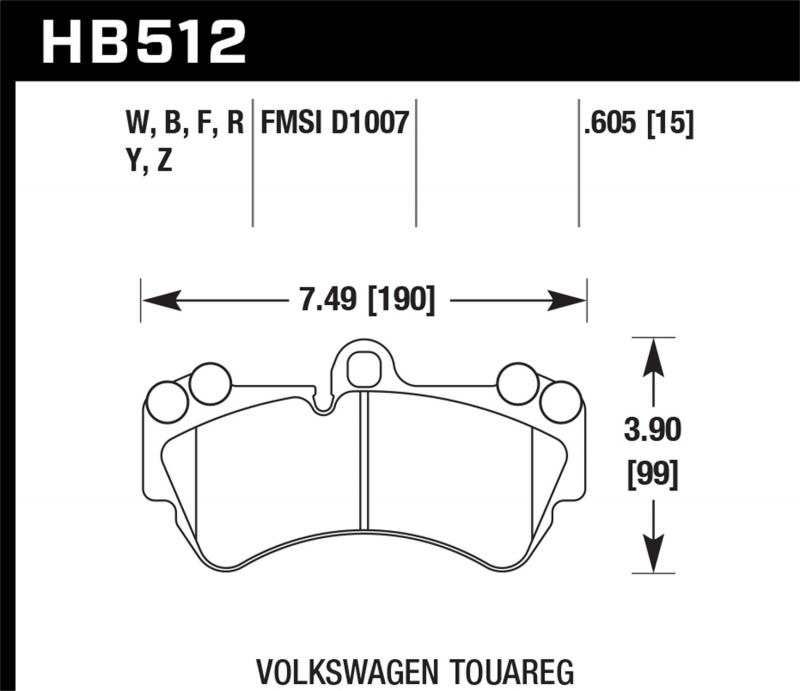 Hawk Performance Disc Brake Pad Front - HB512F.605