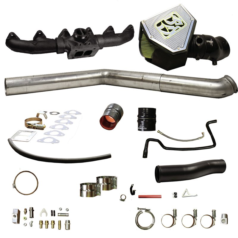BD Diesel Rumble B Turbo Install Kit, S400 - Dodge 2010-2012 6.7L
