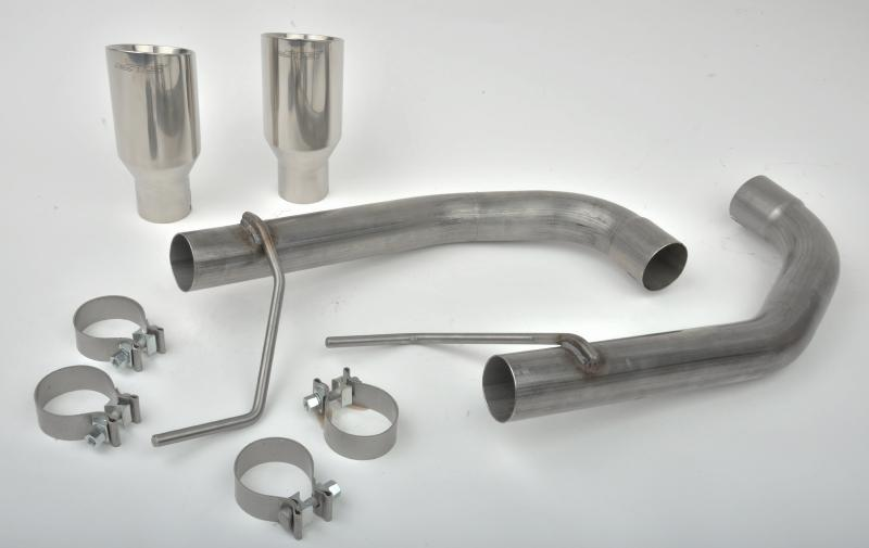 "SLP Performance Axle-Back Exhaust, 2015-17 Mustang 2.3L / 3.7L ""Loud Mouth"" w/4"" Tips Ford"