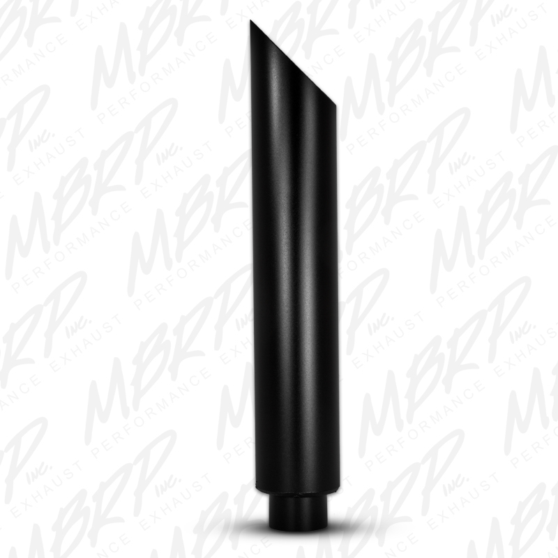 MBRP Exhaust 1 pc Stack 6in. Angle Cut 36in. Black Coated