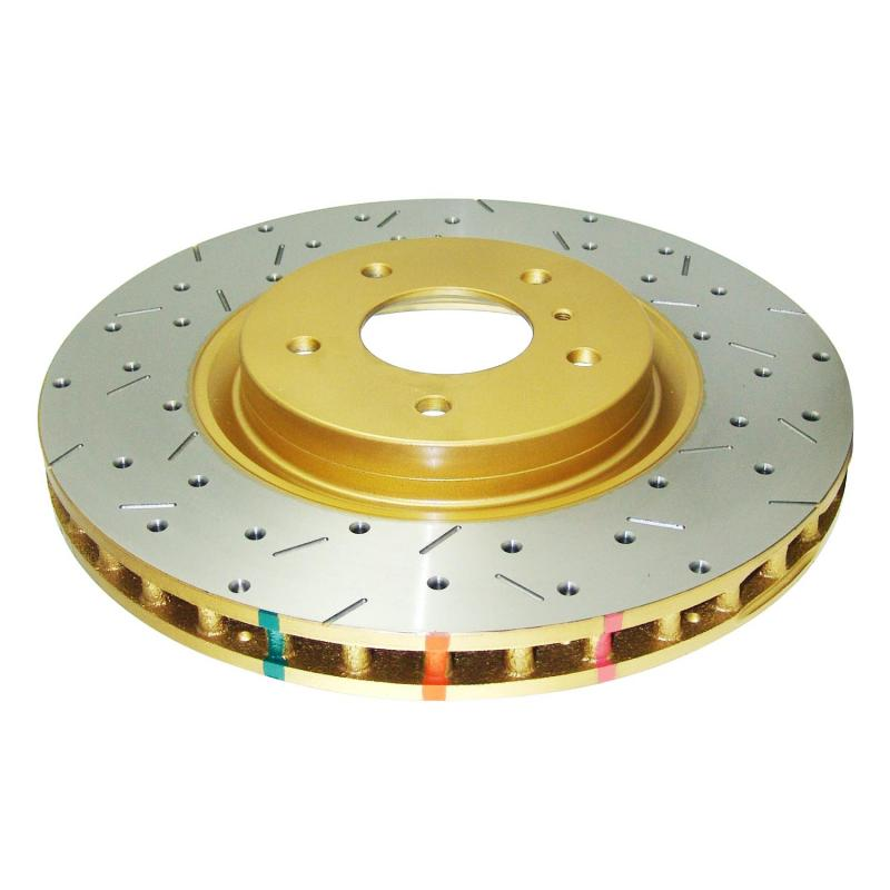 Disc Brakes Australia 4000 Series Rotor - Cross Drilled/Slotted Uni-Directional Rotor Front - DBA4600XS