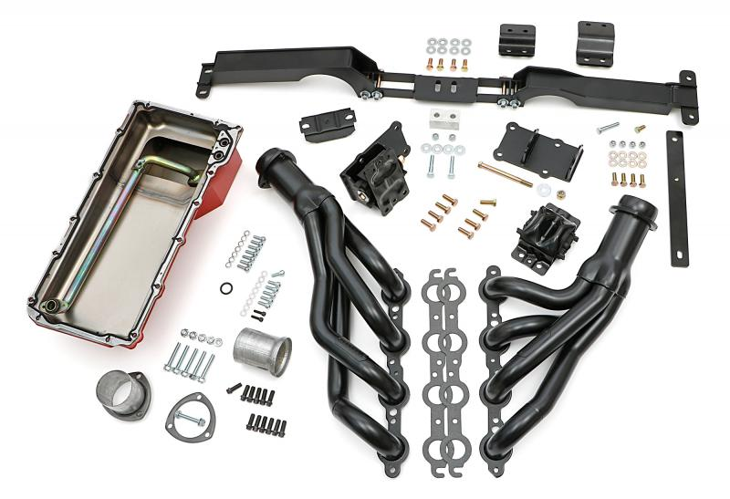 """Trans-Dapt Performance Engine """"SWAP IN A BOX"""" KIT; LS in 78-87 GM A & G-Body Cars- Raw Headers - 48061"""
