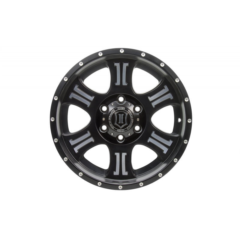 ICON Alloys ICON ALLOY SHIELD SAT BLK MACH 20 X 9 W/ 8 X 6.5 BOLT CIR