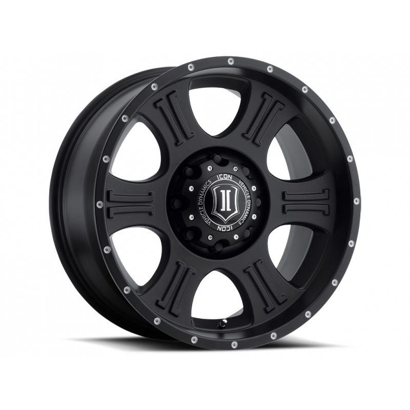ICON Alloys ICON ALLOY SHIELD SAT BLK 20 X 9 W/ 8 X 6.5 BOLT CIR