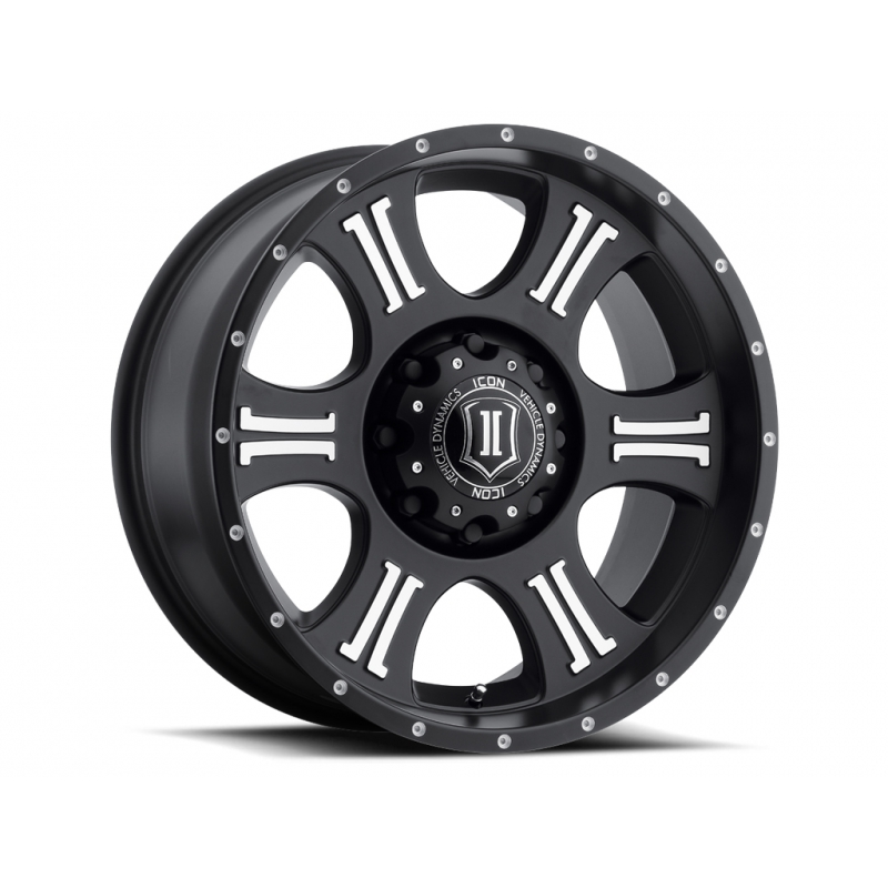 ICON Alloys ICON ALLOY SHIELD SAT BLK MACH 20 X 9 W/ 8 X 180 BOLT CIR GMC Sierra 2015-2016