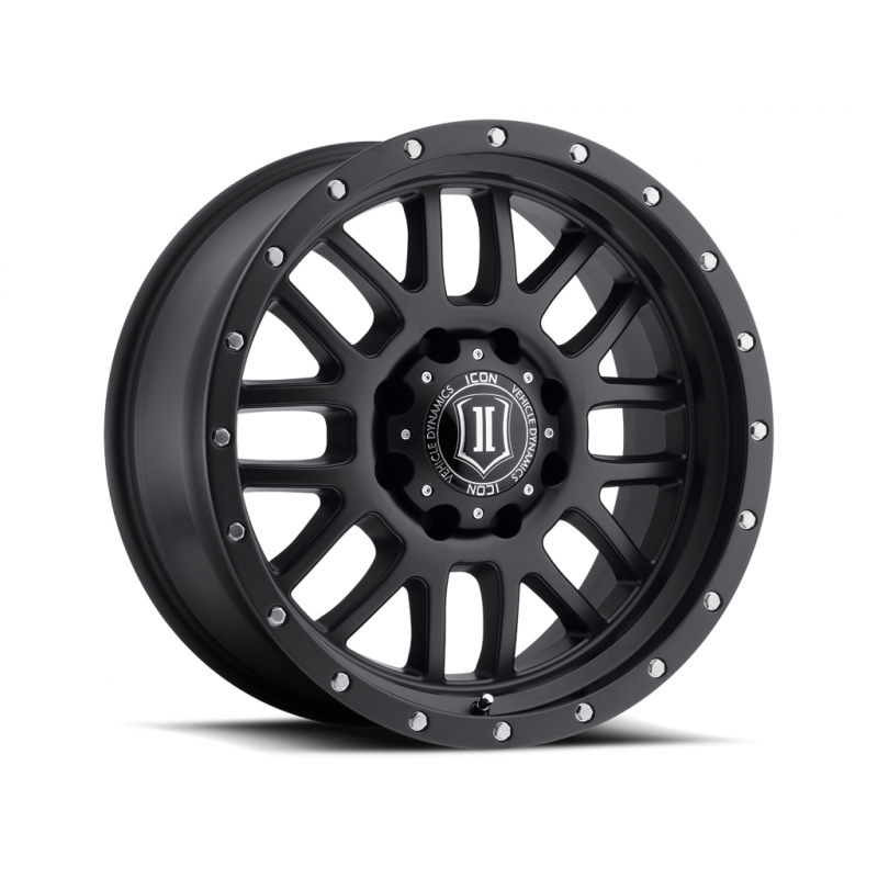 ICON Alloys ICON ALLOY ALPHA SAT BLK 20 X 9 W/ 8 X 6.5 BOLT CIR