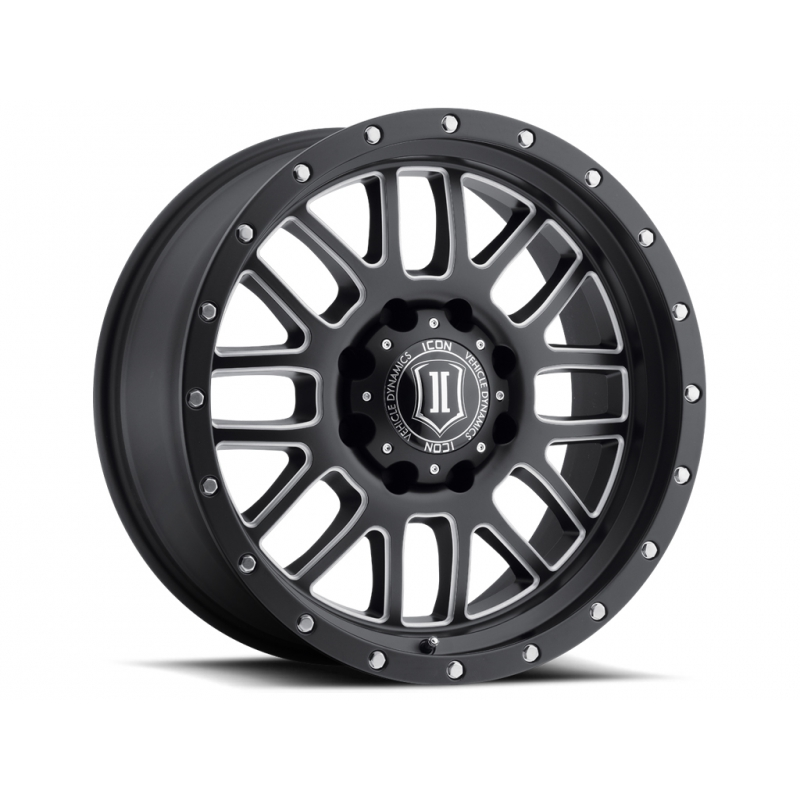 ICON Alloys ICON ALLOY ALPHA SAT BLK MILL WIN 20 X 9 W/ 8 X 6.5 BOLT CIR