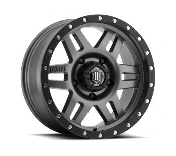 ICON Alloys ICON ALLOY SIX SPEED GUN MTL 17 X 8.5 W/  5 ON 5  BOLT CIR Jeep Wrangler 2007-2016