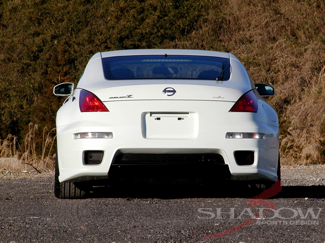 Shadow Rear Bumper w/ Carbon Diffuser Spoiler Nissan 350Z 03-07 - SSD-RBS-CD