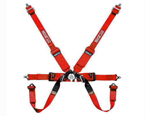 Sparco Competition 6-Point Formula Harness HANS Compatible Red