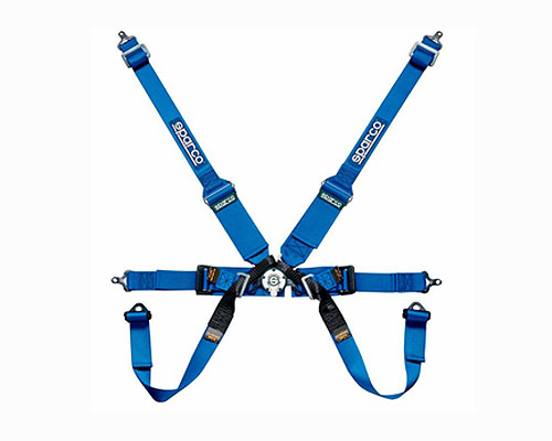 Sparco Competition 6-Point Formula Harness HANS Compatible Blue