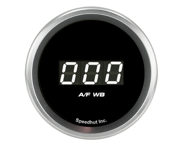 SpeedHut Air/Fuel Digital Gauge Wide Band 9-16 with Easy Touch Bezel Ballenger AFR500 and NGK AFX