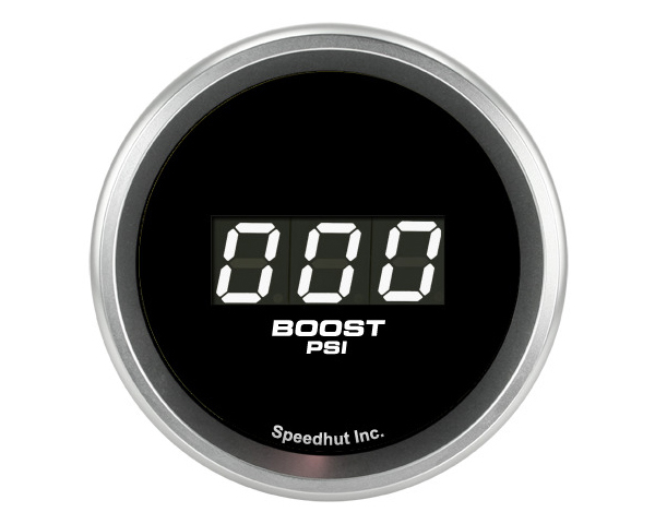 SpeedHut Boost Digital Gauge 0-60psi with Easy Touch Bezel