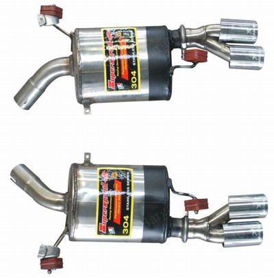 Supersprint Rear Exhaust Mufflers Quad Tip BMW E92 335i Coupe 07-11 - 980206
