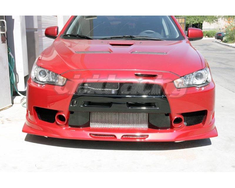 Test & Service Front Bumper w/ Canards Mitsubishi EVO X 08-12 - TS-EVOX-FB