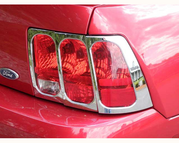 Quality Automotive Accessories ABS Plastic with Chrome Overlay 2-Piece Tail Light Bezel Ford Mustang 2001 - TL39351