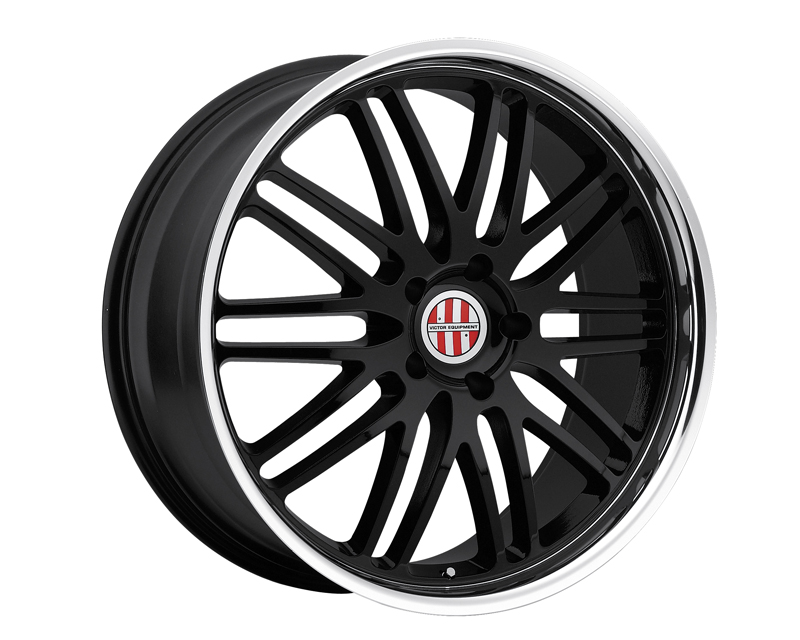 Victor Equipment Le Mans 18X11 5x130 36mm Gloss Black Machined Lip