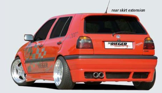 Rieger Rear Apron Diffuser Deep Version w/ Mesh Volkswagen Golf III Euro 93-99 - R 42062
