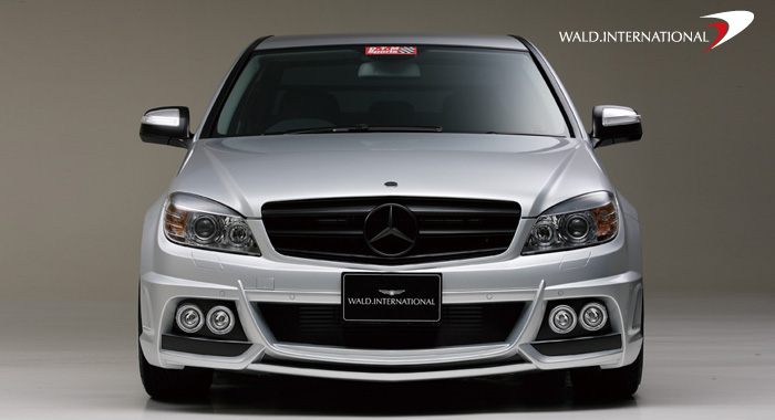 Wald International Black Bison Front Half Bumper Mercedes C63 07+ - W204.BB.FB.08