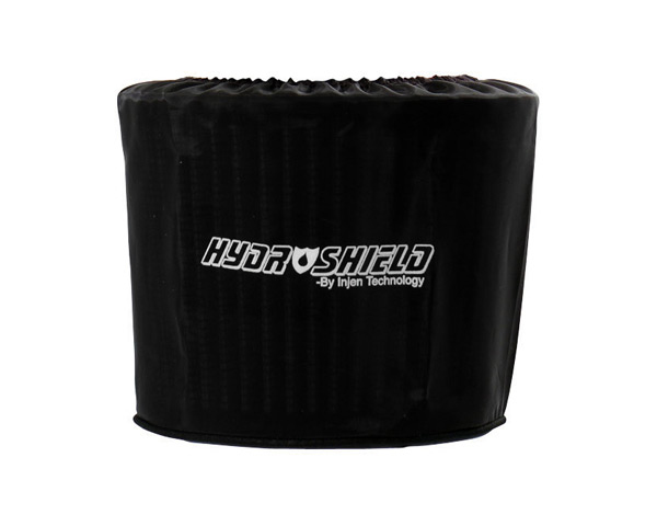 Injen Black Hydro-Shield Pre-Filter 8.50in x 9.00in Oval base X 7.00in Tall X 4.00in x 8.00in Oval Top